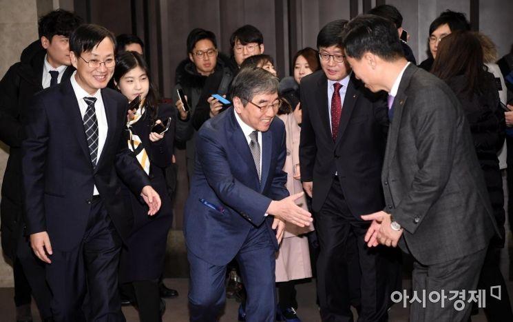 [포토] 여신금융권 CEO 신년 간담회 참석하는 윤석헌 원장