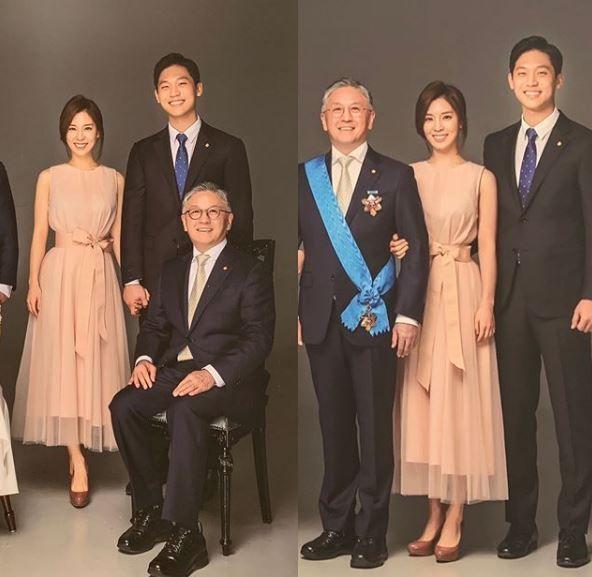 뮤지컬 배우 함연지가 자신의 아버지인 함영준 오뚜기 회장과 함께 찍은 가족사진을 공개했다. / 사진=함연지 인스타그램 캡처