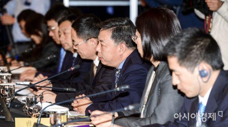 [포토]모두발언하는 궈징 중국 국제환경협력사 사장