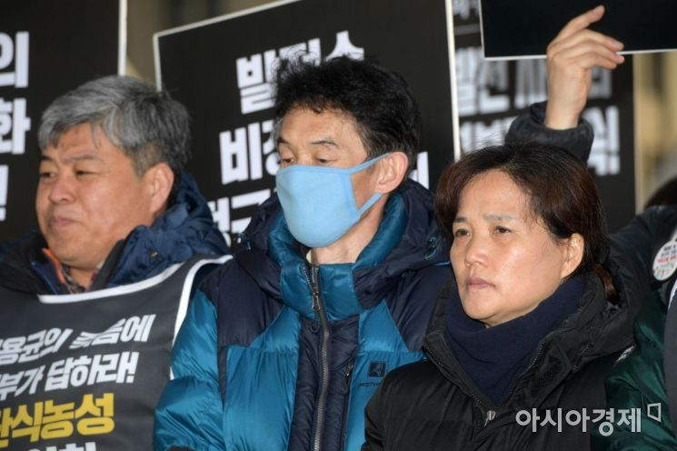 [포토]굳은 표정의 고 김용균 씨 부모