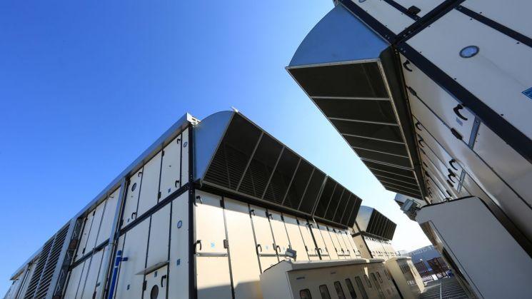 TCC 옥상에 있는 공조시설. 모두 별도로 설계 및 주문제작됐다. (제공=NHN엔터테인먼트)