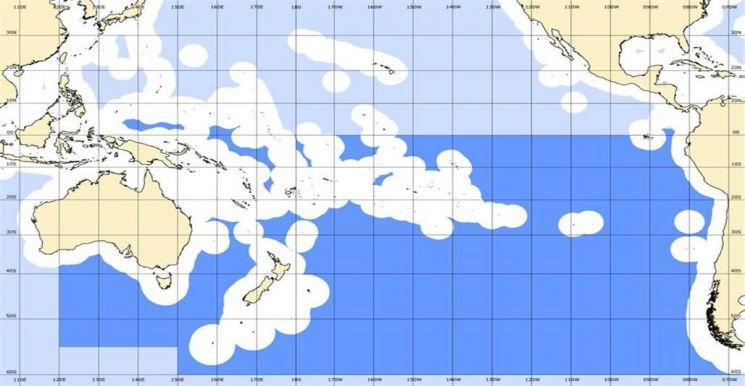 SPRFMO 협약 수역(진청색 부분)
