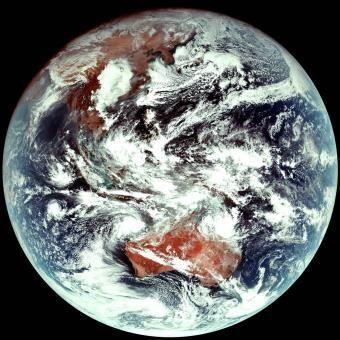 천리안 위성 2A호 천연색 컬러영상