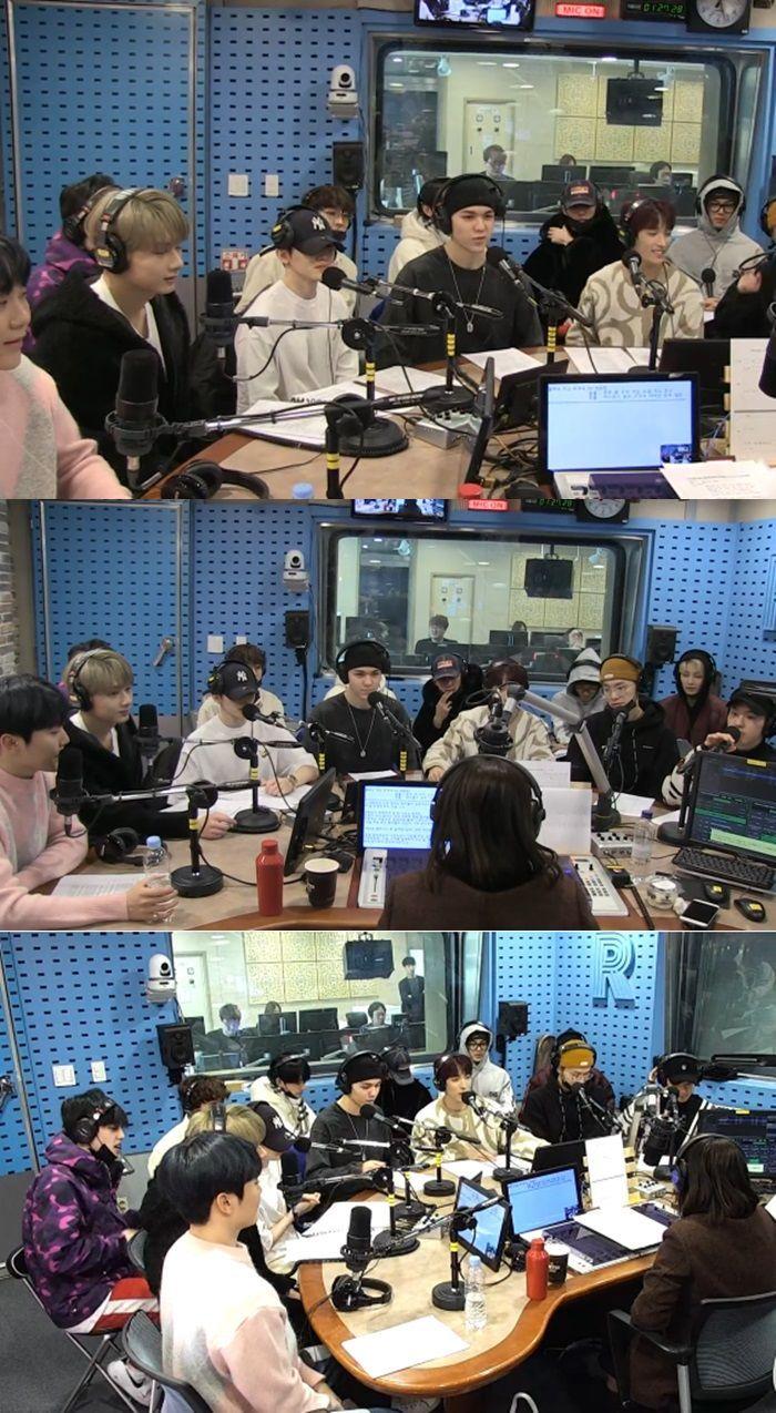 '최화정의 파워타임'에 출연한 세븐틴/사진=SBS 파워 FM 캡처