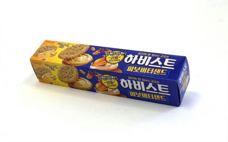 롯데제과, 고소함 끝판왕 '하비스트 피넛버터샌드' 출시