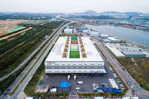 쿠팡 인천 물류센터 항공뷰