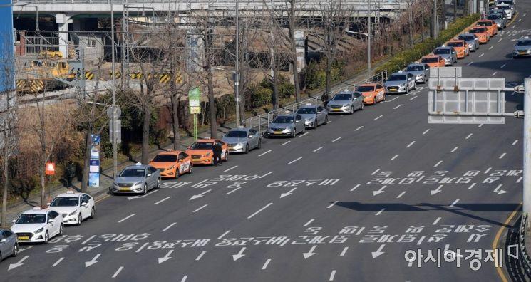 [포토]손님 기다리는 택시
