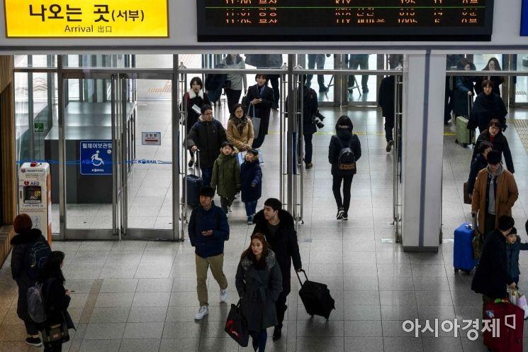 [포토]서울역 도착한 귀경객