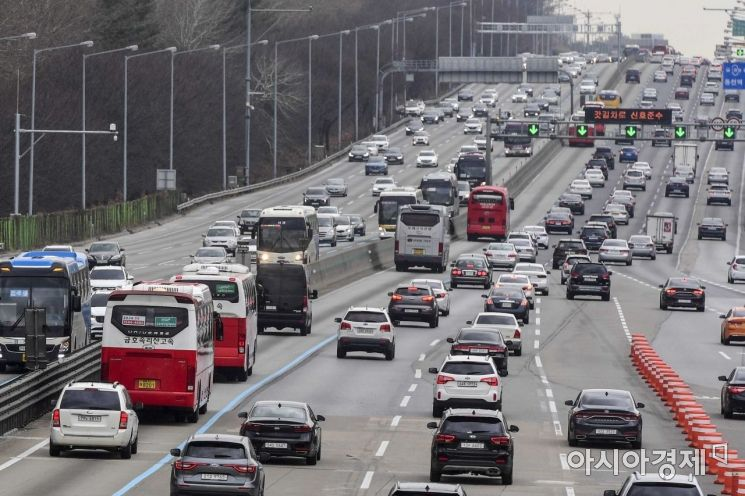 [포토]서울톨게이트로 이동하는 귀경차량