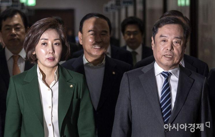 [포토] 이야기 나누는 김병준-나경원