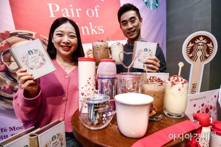 [포토]스타벅스, 4년만에 밸런타인 전용 음료 출시