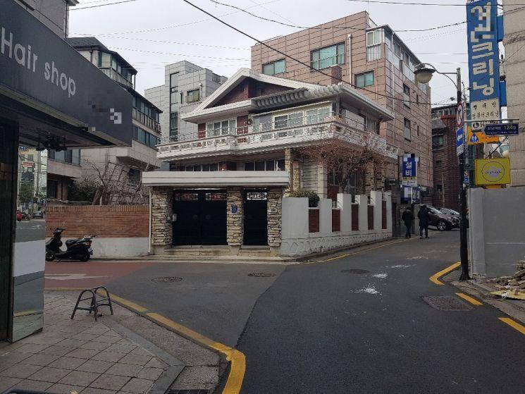 서울 강남구 논현동 가구거리 일대 단독주택 밀집지역