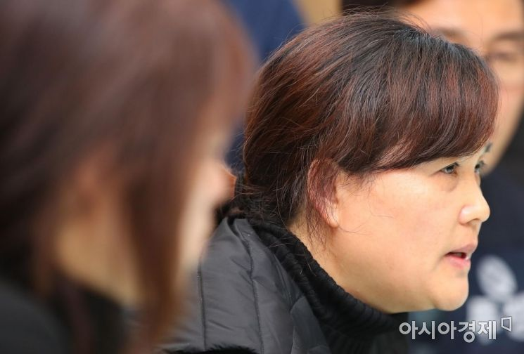[포토] 이해찬 대표와 면담하는 김용균 씨 어머니
