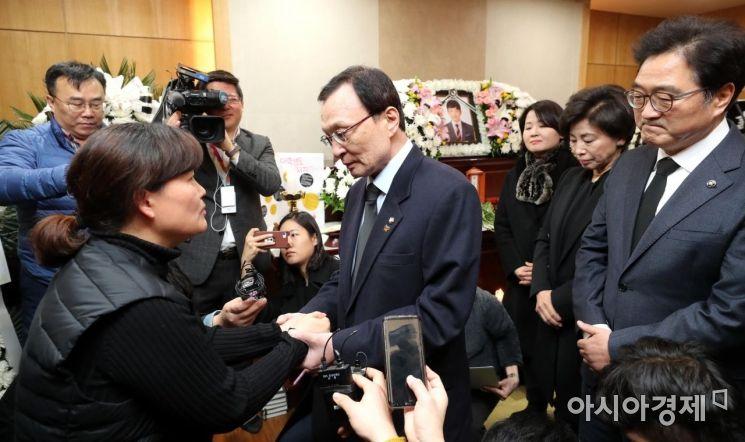 [포토] 고 김용균 빈소 조문하는 더불어민주당 의원들