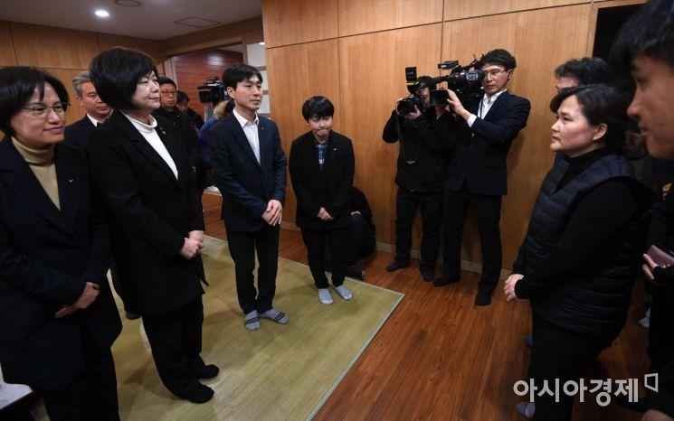 [포토] 김용균 빈소 찾은 정의당 의원들