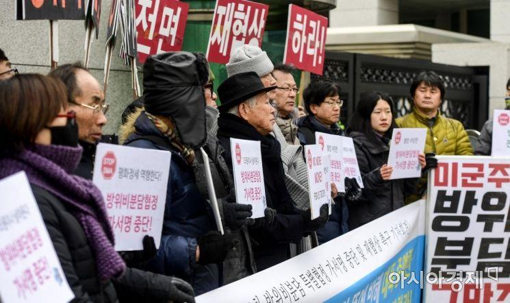 [포토] 한미방위금분담금 가서명 반대 기자회견
