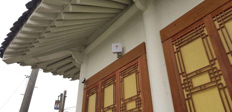 나주목문화관 '무료 와이파이존' 설치 모습. 사진=나주시