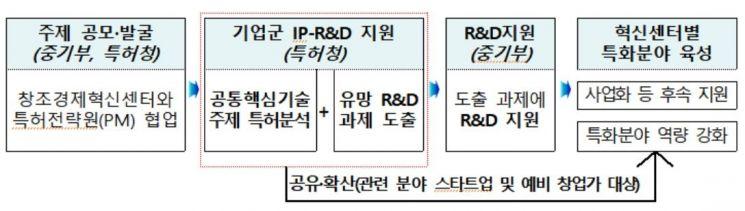 <기업군 공통핵심기술 IP-R&D 지원절차>