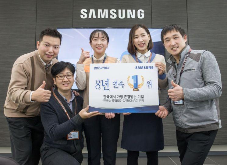 삼성전자서비스, 한국에서 가장 존경받는 기업 8년 연속 선정