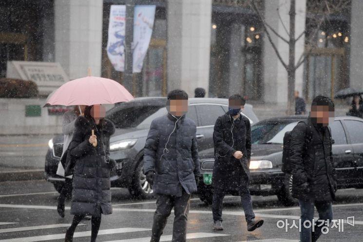[포토]눈 내리는 출근길