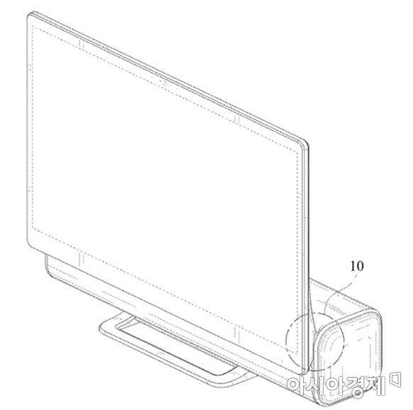 삼성전자가 개발한 일체형 PC 올인원 데스크톱 디자인 특허 도면. (사진=USPTO)