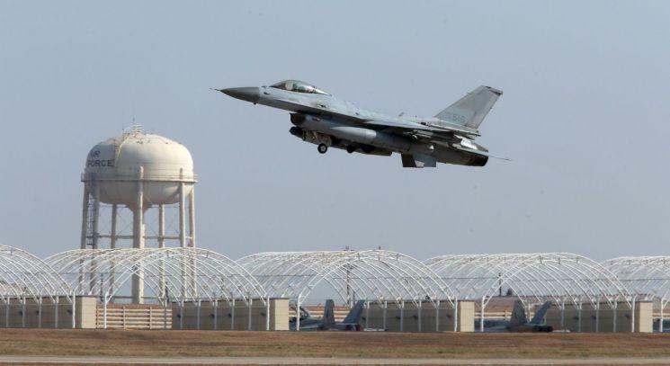 2014년 11월 20일 군산미군공군기지에서 촬영된 KF-16 전투기 (사진=연합뉴스)