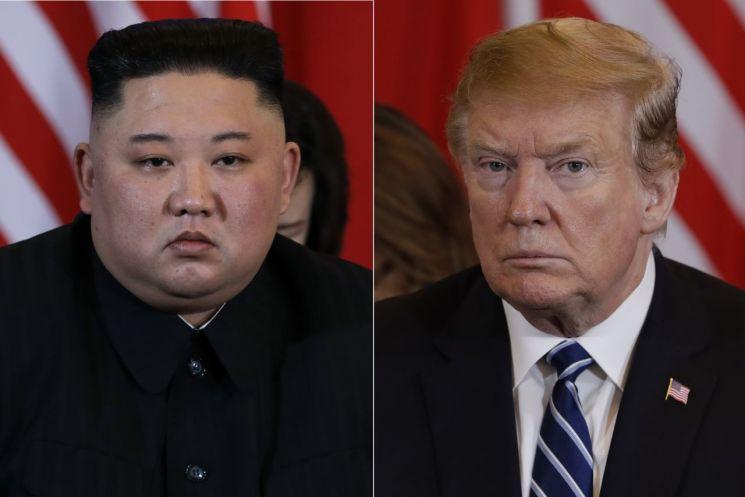 도널드 트럼프 미국 대통령(오른쪽)과 김정은 북한 국무위원장.  <사진=AP연합>