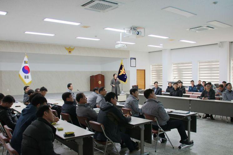 남 장성경찰서는 지난 달 28일 장성경찰서 3층 백양마루에서 직원들을 대상으로 제2회 전국동시조합장선거 대비 위탁선거법 교육을 실시했다. 사진=장성경찰서
