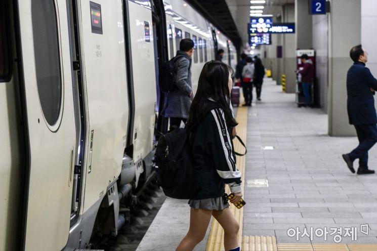 [포토]운행 재개한 SRT 통근열차