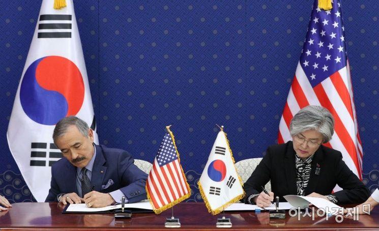 [포토] 방위비분담금특별협정 서명하는 한-미