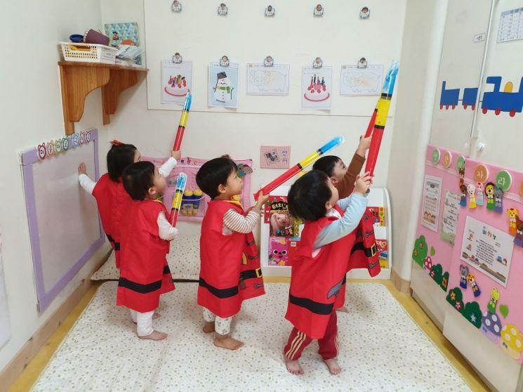 대전 관내 어린이집에서 아이들이 교육활동을 하고 있다. 대전시 제공