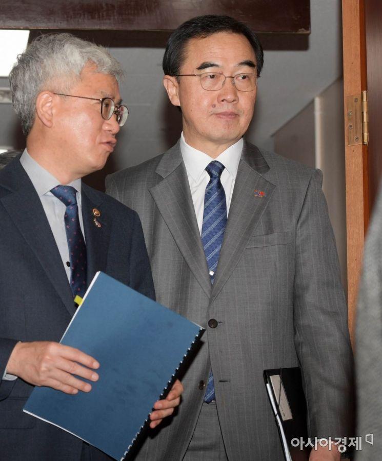 [포토]국무회의 향하는 조명균 통일부 장관