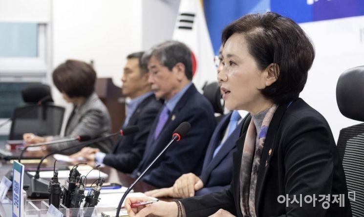 [포토] 유은혜 장관, 교육관련 당정청 회동 참석