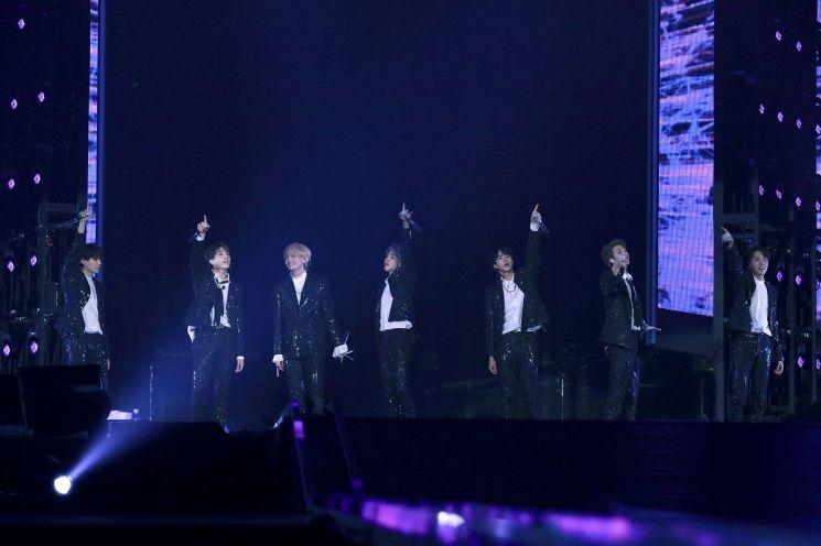 그룹  방탄소년단이 지난해 8월13일 일본 도쿄돔에서 'LOVE YOURSELF ~JAPAN EDITION~'을 열었다. / 사진=연합뉴스