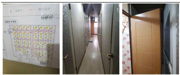 고시원 내부 모습 / 한국도시연구소