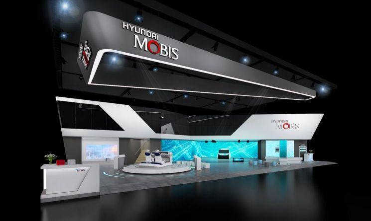 현대모비스는 이달 29일부터 열흘간 일산 킨텍스에서 열리는 '서울모터쇼'에서 미래차 기술을 선보인다. 사진은 이번 서울모터쇼에 마련되는 현대모비스관 조감도(사진=현대모비스 제공)