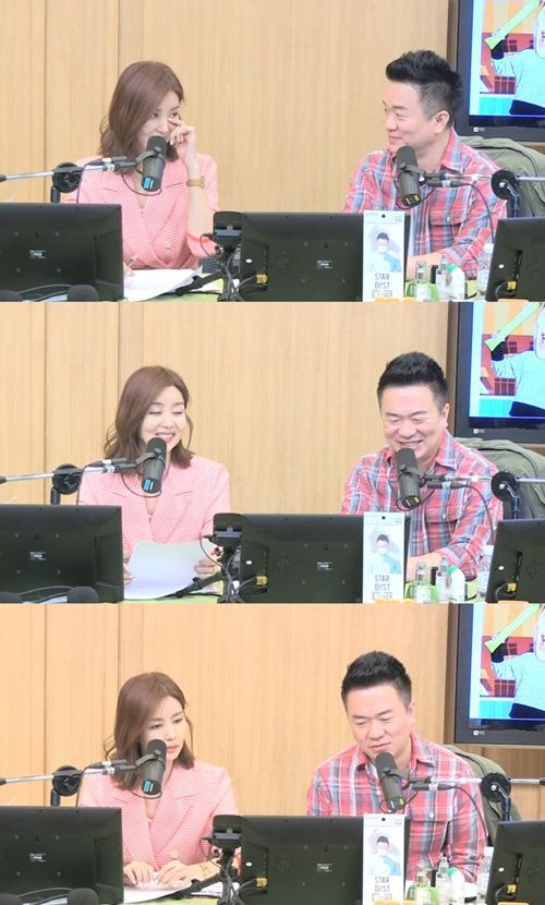 배우 박솔미와 DJ 김태균 / 사진=SBS 보이는 라디오