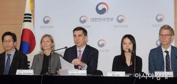 [포토]IMF 연례협의 미션단 언론브리핑