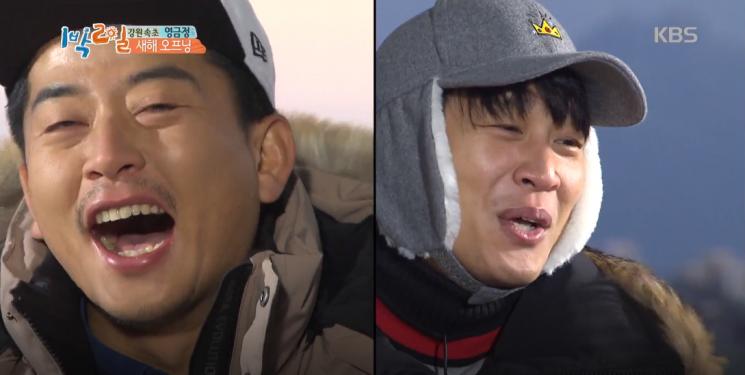 방송 하차 선언한 차태현과 '내기 골프 논란'에 같이 휩싸인 동료 김준호 / 사진 = KBS 캡처