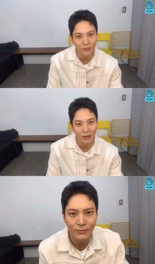 주원이 전역 후 팬들과 소통하는 자리를 가졌다/사진=V앱 '주원입니다(ft.오랜만이죠?!)'화면 캡처