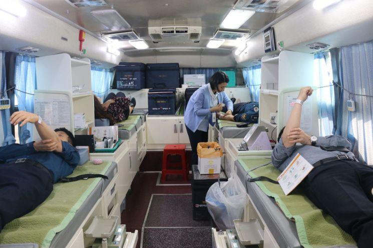 전남 광양경찰, 만성적인 혈액 난 해소…사랑의 헌혈