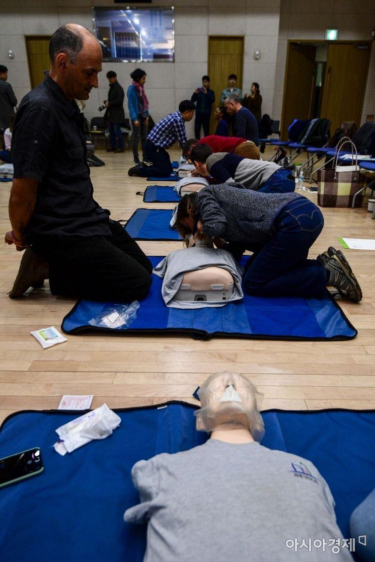 [포토]서초구, 외국인 응급처치교육