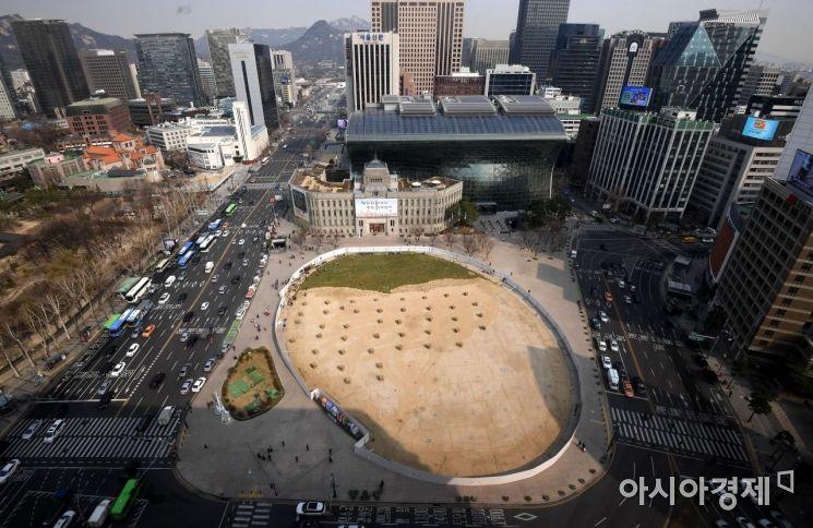 [포토] 서울광장의 봄맞이
