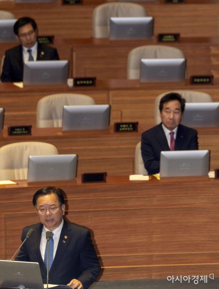[포토] 정치분야 대정부질문 출석한 김부겸 장관