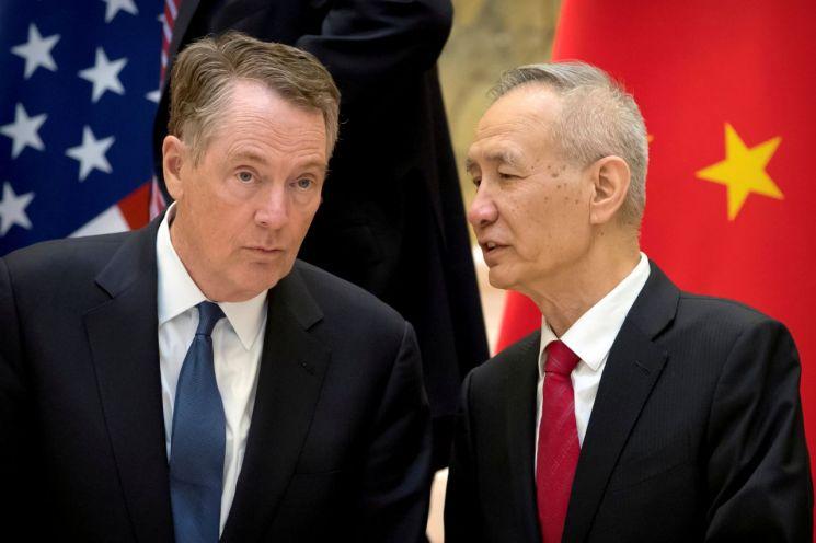 미중 무역협상 고위급 대표단. 사진 출처=로이터연합뉴스