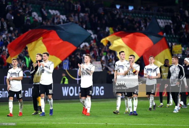 독일이 세르비아와의 친선경기에서 무승부를 거뒀다/사진=게티이미지