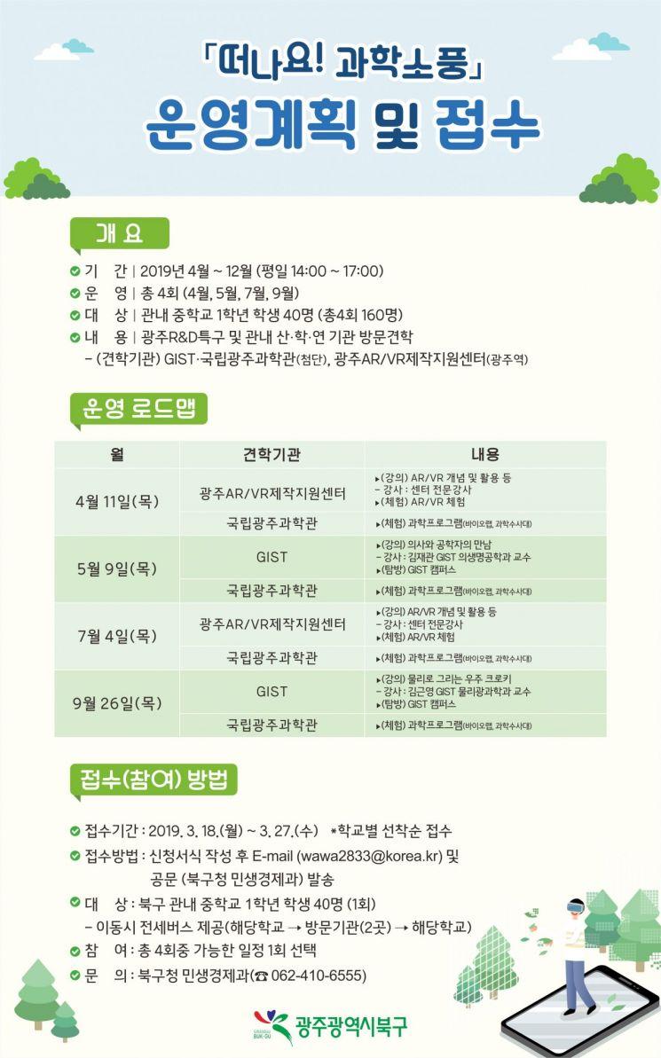 광주 북구, 다채로운 '주민참여형 과학프로그램' 운영