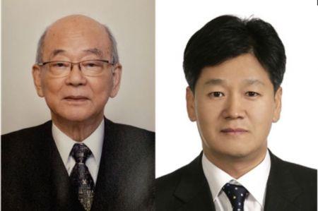 (왼쪽부터)권이혁 서울대학교 명예교수, 이재관 고려대학교 의과대학 산부인과 교수