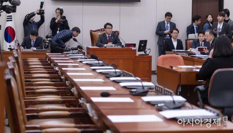 [포토] 김연철 청문회, 시작 전부터 여야 기싸움