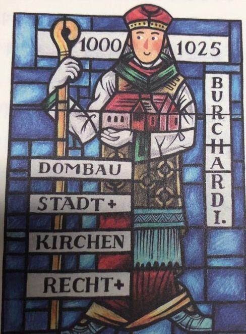 문헌 최초로 '딜도(dildo)'라는 단어를 썼다고 알려진 서기 11세기초 독일 보름스(Worms)의 부르하르트 주교를 묘사한 '에로틱 세계사' 내 삽화